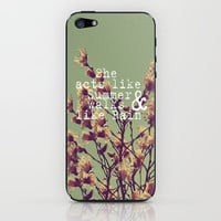 She Acts Like Summer iPhone & iPod Skin by Rachel Burbee