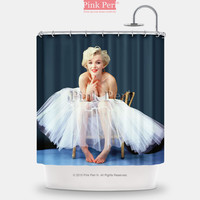 Marilyn Monroe with White Wedding Dress Shower Curtain Home & Living 101