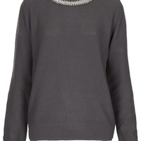 Knitted Necklace Jumper - New In This Week - New In - Topshop