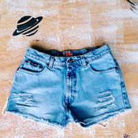 Mid Waist Denim Shorts Cut Off Jean Shorts Size 5