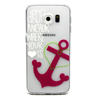 Ultra Thin Transparent Silicone Case for Samsung Galaxy S6 (Drop Anchor)