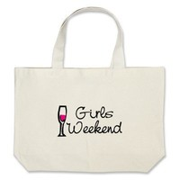 Girls Weekend (Wine) Canvas Bags from Zazzle.com