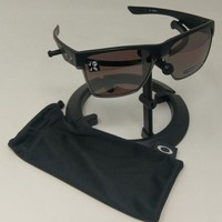 New Oakley Sunglasses Two Face XL Matte Blk Prizm Polarized OO9350-02 AUTHENTIC
