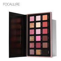 FOCALLURE Pro 18 Colors Glitter Matte Easy to Wear Warm Smokey Eye Shadow Palette Eyes Cosmetics Tools