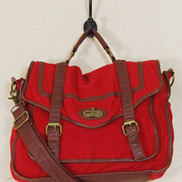 Orville Messenger Bag in Red : Spotted Moth
