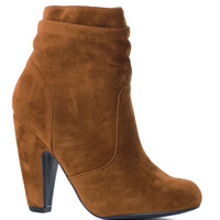 Lexi Scrunch Booties - Tan