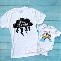 Rainbow Baby Mommy and Me Matching Shirts