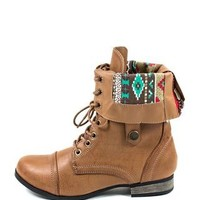 ZIP-BACK FOLD-OVER COMBAT BOOTS