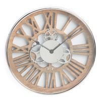 Aluminum And Wood Gear Clock - Room & Wall Decor - T.J.Maxx