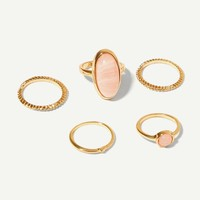 Simple Ring Set 5pcs