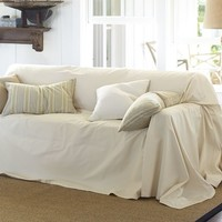 Dropcloth Loose-Fit Slipcover - Twill