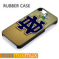 Rare Notre Dame Fighting Irish iPhone 4/4S, 5/5S, 5C, 6/6 Plus Series Rubber Case
