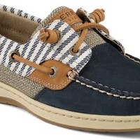 Sperry Top-Sider Bluefish Mariner Stripe 2-Eye Boat Shoe Navy, Size 5M  Women's Shoes