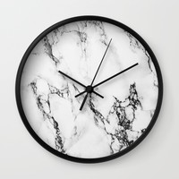 Marble #texture Wall Clock by Follow Me Away