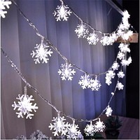 Snowflakes LED String Lights Wedding Birthday Party Decoration Flashing Lights