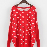 Heart Print Sweater -more colors! from CATPRINCESS CLOTHING