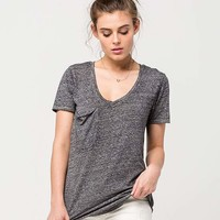 OTHERS FOLLOW Relaxed Fit Womens Pocket Tee   Knit Tops + Tees