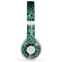 The Delicate Abstract Green Pattern Skin for the Beats by Dre Solo 2 Headphones
