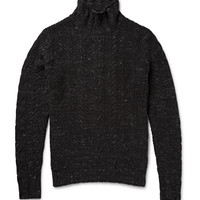 Grayers - Albert Cable-Knit Cotton Rollneck Sweater   MR PORTER