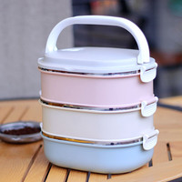 3 Layers 304 Stainless Steel Japanese Bento Box Food Container Storage For Kids Picnic School Lunch Box Portable Thermal Bag