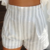 Top Of The World Shorts: Grey/Ivory