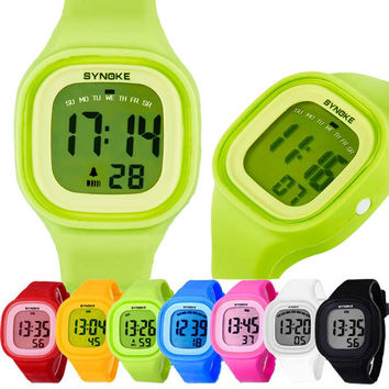 Best Selling Watch Silicone LED Light Digital Sport Watches Kids Student Girl Boy Relogio Casual Mujer Montre Reloj CF