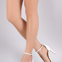 Qupid Crisscross Ankle Strap Stiletto Heel