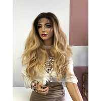 """Blonde Ombre 4Way Vixen Multi Parting Lace Frontal Wig 20"""" 0319 Pressure"""