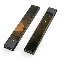 Skin Decal Kit for the Pax JUUL - Brown and Orange Abstract Shapes