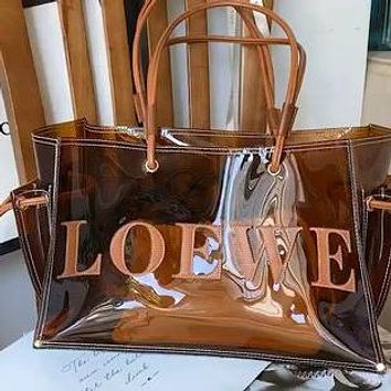 LOEWE new transparent female shopping bag shoulder bag messenger bag