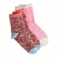 AEO Women's Bright Print Sock 2-pack