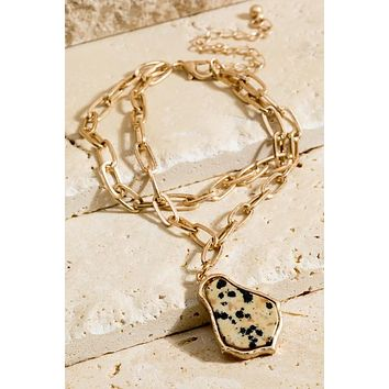 Tracey Layer Chain Natural Stone Bracelet