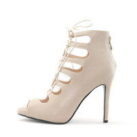 Sexy Lace Up Peep Toe Party Shoe