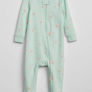 Cuddle & Play Print Footed One-Piece|gap