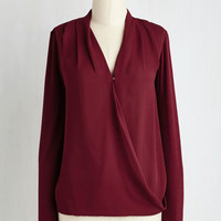 Mid-length Long Sleeve Finesse in Line Top