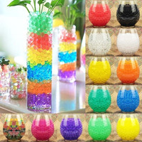 300pcs Water Plant Flower Jelly Crystal Soil Mud Water Pearls Gel Beads Balls Home Vase Decoration = 1933130308