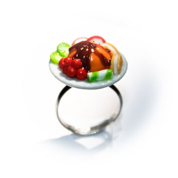 Miniature food Pudding and Fruit ring ( adjustable )