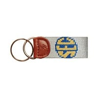 SEC Needlepoint Key Fob in Natural by Smathers & Branson