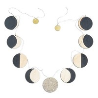 The Great Lakes Goods Moon Phase Wooden Garland | Nordstrom