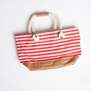 Tropez Tote in Red
