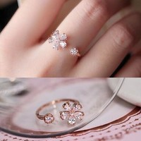 New Arrival Jewelry Gift Shiny Korean Stylish Decoration Ring [6586144199]