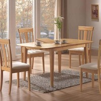 """Maple 36""""X 60"""" Dining Table / 12"""" Butterfly Leaf"""