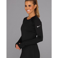 Nike Nike Pro Hyperwarm Tipped Black/White - Zappos.com Free Shipping BOTH Ways