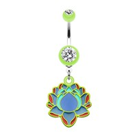 Bright Lotus Belly Button Ring