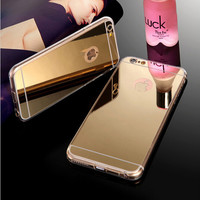 Luxury Mirror Electroplating Soft Clear  iPhone  Back Cover Protective Phone Cases