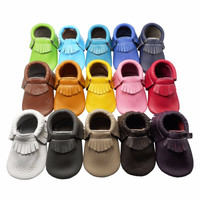 Happy Kids Baby Tassel Soft Leather Shoes boys girls Moccasins Infant Kids Crib Toddler First Walkers Moccasins