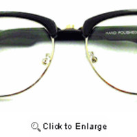 Addison Clear Lens Clubmasters - 123 Black