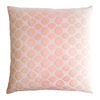 Mod Fretwork Velvet Blush Pillows by Kevin O'Brien Studio