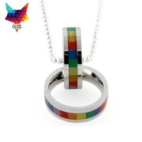 NECKLACE JEWELRY LGBT Rainbow Gay Pride Stainless Steel Lesbian Gay High Quality