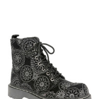 Anarchic By T.U.K. Grey Floral Boot